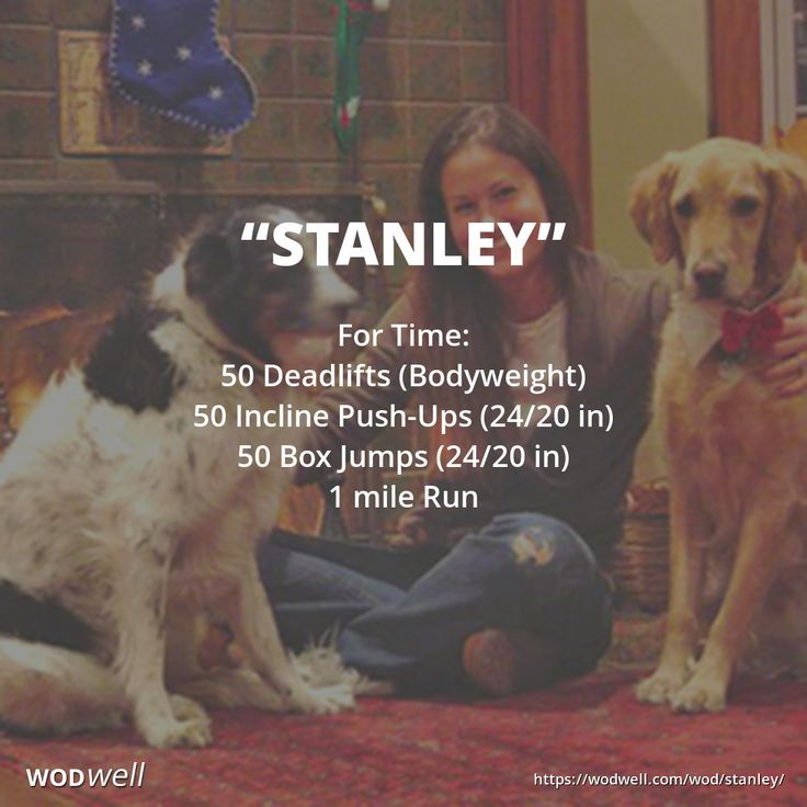 """STANLEY"" CrossFit 626 Tribute WOD: For Time: 50 Deadlifts (Bodyweight); 50 Incline Push-Ups (24/20 in); 50 Box Jumps (24/20 in); 1 mile Run"