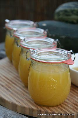 MojeTworyPrzetwory: Cytrynowy dżem z cukini