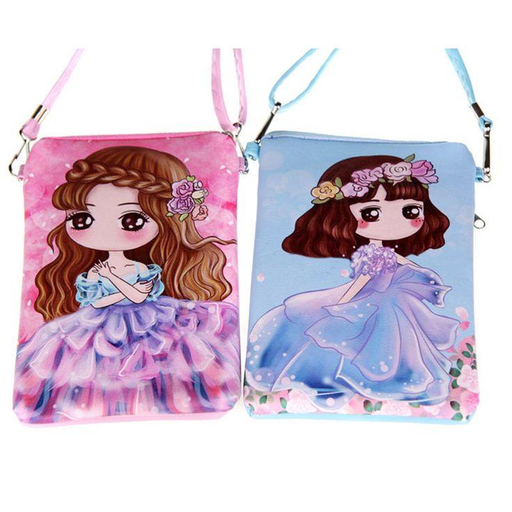 Cartoon PUleather doppia cerniera Bambini Borse nuova moda borse bambini Messenger bag Sacchetto di Spalla per la scuola materna ragazza 23 color