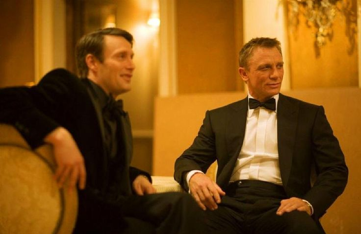*m. Mads Mikkelsen and Daniel Craig on the set of Casino Royale.