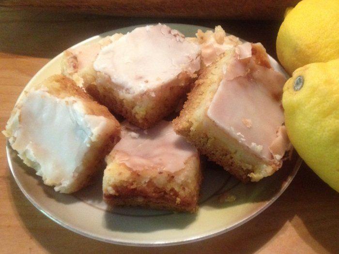 jelly roll pan lemon gooey butter cake bars