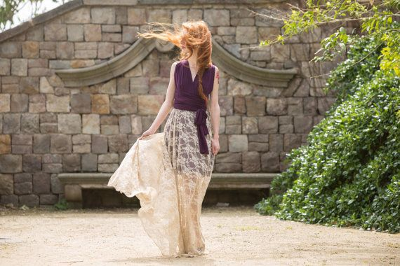 This what I was talking about-perfect!  Rustic Chic Wedding Lace Skirt Detachable lace skirt by mimetik.