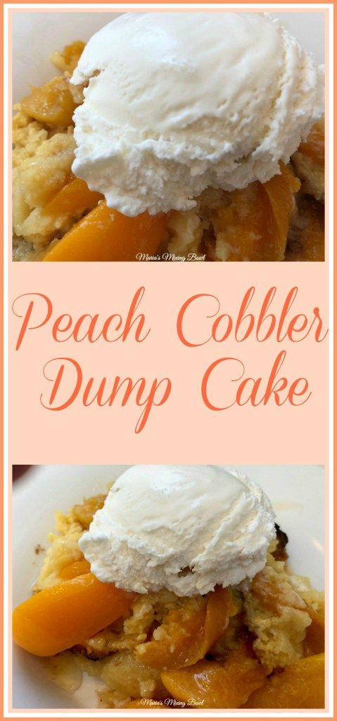 Peach Cobbler Dump Cake - Just a few ingredients and you will have yourself a delicious dessert that everybody will love. Perfect for potlucks and family gatherings! #peach #cobbler #dump #cobbler #4ingredient #easy #dessert #delicious #familyfavorite