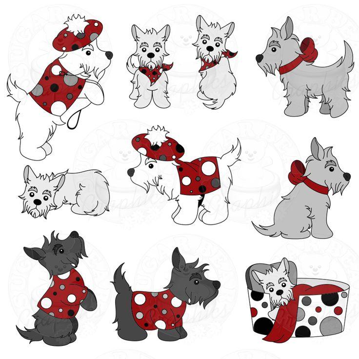Scottie Dogs Part 1 Of A Set New Clip Art Sets
