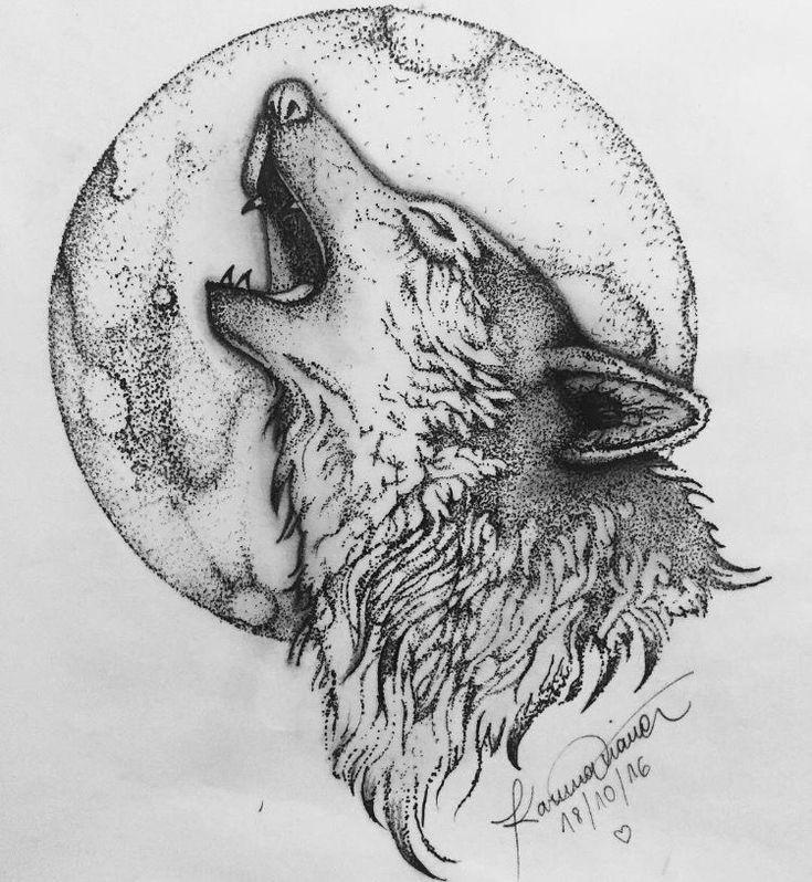 картинка для выжигания волк воет на луну этого высокое значение