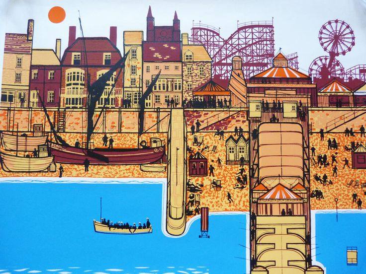 Travel poster Great Yarmouth Roger J Bigg by planetutopia on Etsy https://www.etsy.com/listing/248294524/travel-poster-great-yarmouth-roger-j