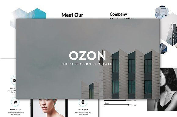 Ozon Minimal Powerpoint Template by Infinity_Vector on @creativemarket