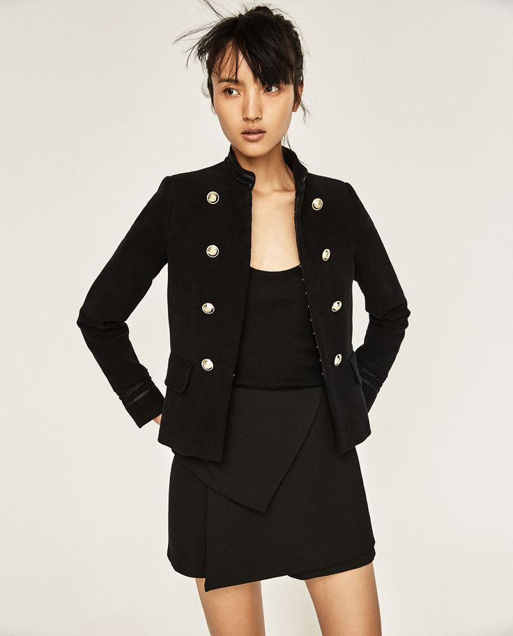 ZARA - WOMAN - MILITARY BLAZER WITH GOLDEN BUTTONS