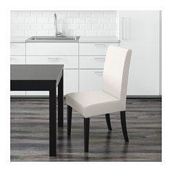 IKEA - ХЕНРИКСДАЛЬ, Стул, Грэсбу белый, Грэсбу белый, -, , Ножки стульев изготовлены из массива дерева – прочного натурального материала.Съемный чехол на каркас стула ХЕНРИКСДАЛЬ можно стирать.Высокая спинка и сиденье с наполнителем из полиэстерной ваты обеспечивают максимальный комфорт.