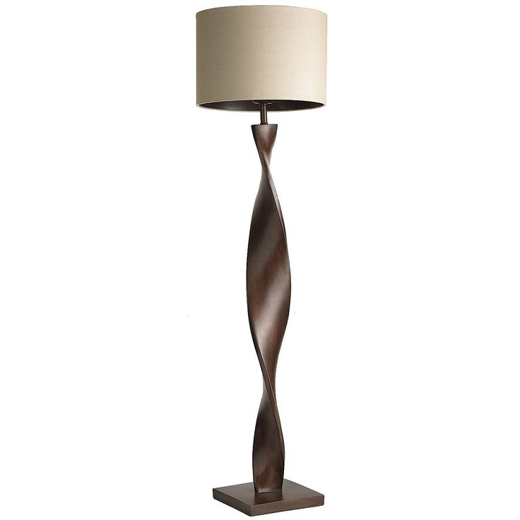 Brown twist floor lamp