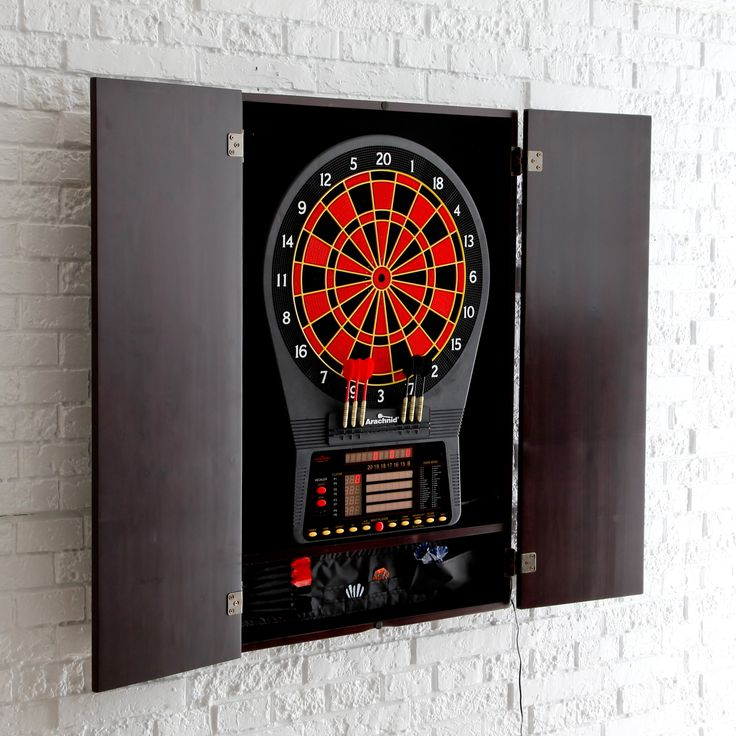 Have to have it. Arachnid Cricket Pro 800 Electronic Dart Board with Heckler Feature and Cabinet - $349.97 @hayneedle