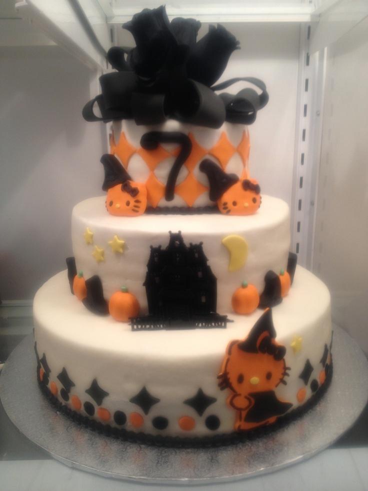 Halloween Birthday Cake-hello kitty Halloween!! Pinterest - hello kitty halloween decorations
