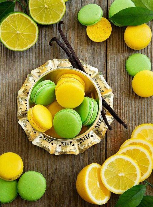 Lemon and Lime Macarons