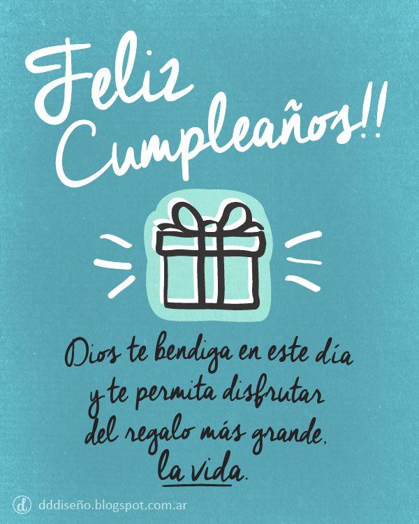 Tarjeta de Cumpleaños El regalo más grande #Cumpleaños Inspirate con estos diseños exclusivos, descargalos gratis y aplicalos en donde más te guste! ► DESCARGAR GRATIS en alta calidad