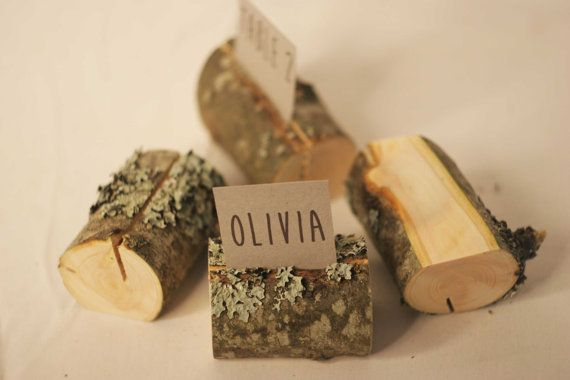 20 pieces rustic place card holders Wedding by SnakeInChest