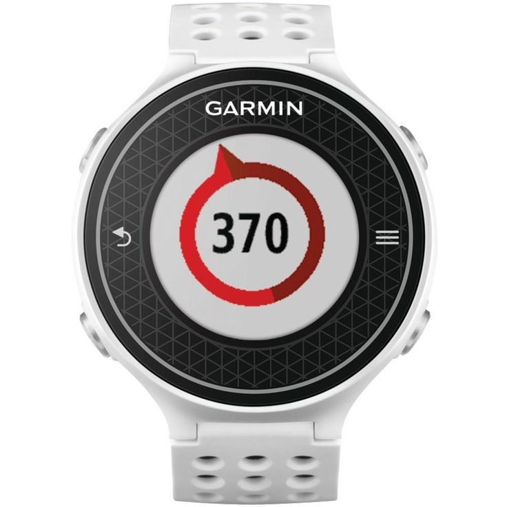 GARMIN 010-01195-00 Approach(R) S6 Golf GPS Watch (Light). Garmin(R) GPS golf watch;  High resolution color touchscreen ;  Features swing metrics, including SwingTempo, TempoTraining & SwingStrength(TM);  Dedicated CourseView button with Green View for manual pin positioning;  PinPointer blind-shot assistance gives a directional arrow to the green even when its not in the line of sight;  Gives distances to the front, back & center of the green as well as distances to doglegs;  Inputs…