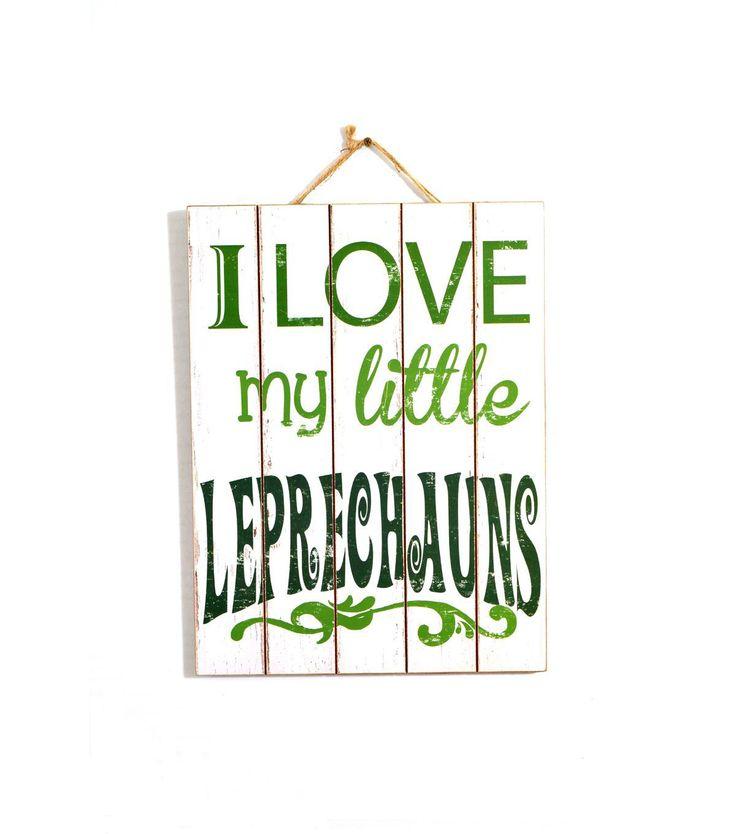 St. Patrick's Day Wood Wall Decor-I Love My Little Leprechaun
