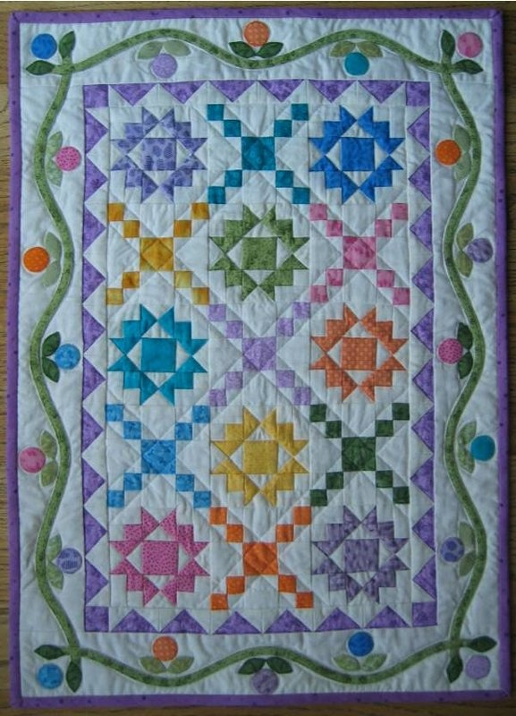 Blossom Thyme Quilt Stars In Pastel Colours I Love