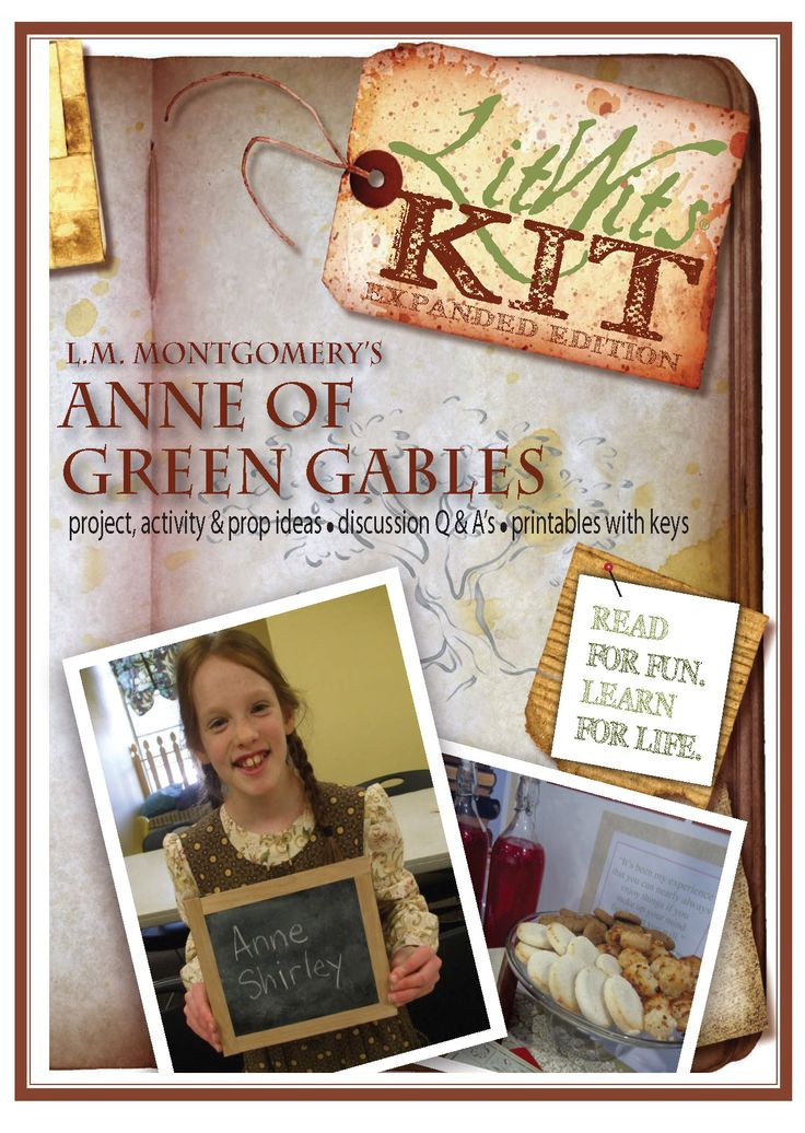 1000 images about homeschool on pinterest literature for Anne of green gables crafts
