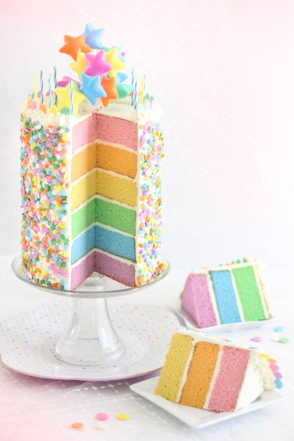 Bakes: Pastel Layer Cake and a Blog Birthday!Colourful Cake, Pastel ...