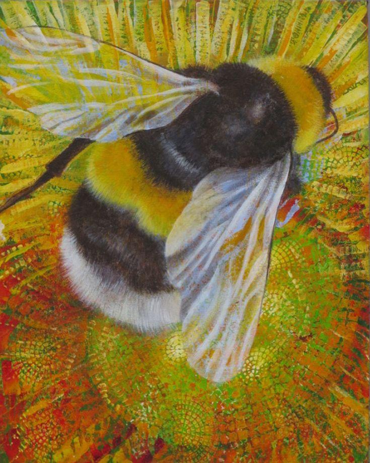 Bee. Acrylic 40cm x 50cm. Shirley Dougan