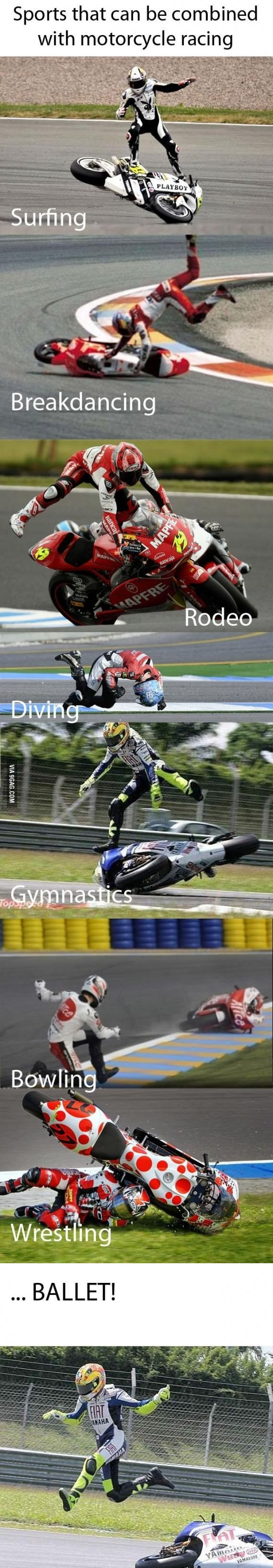 Sports activities that may be mixed with motorbike racing