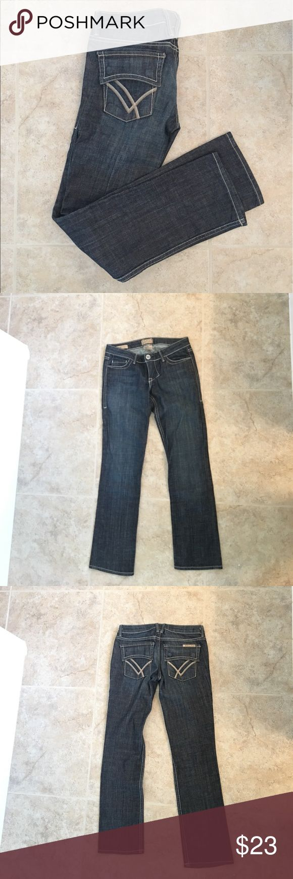 William Rast dark wash capri jean William Rast quality denim Capri jean w/embellished flap back pockets w/ snaps. Looks great rolled hem or straight. Excellent condition, almost never worn! William Rast Jeans Ankle & Cropped