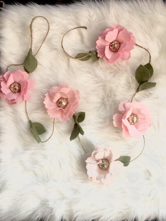 Blush Pink Flower Garland Products Flower Garlands Garland Flowers
