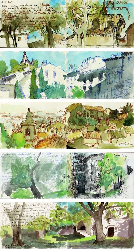 sketchbook . creativity between covers . travel sketches from provence . EditionH on Squidoo