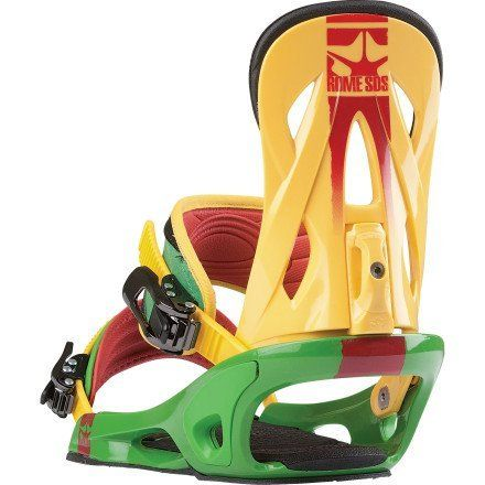 Rome Shift Snowboard Binding Rasta, M by Rome. $129.95. If you need a simple binding that can crush everything from pow to park and won't crap out on you, check out the Rome Shift Snowboard Binding. The Shift highback and Unibody baseplate will stand up to bomb drops and overshot landings, and the SubBase footbed will help protect your heels when doing either of the aforementioned things.Product FeaturesMaterial: Highback: ShiftAnkle Strap: Progressive FlexToe Strap: Con...