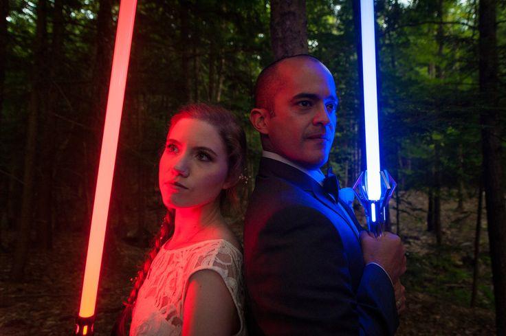 Wedding fun ... with Lightsabers!
