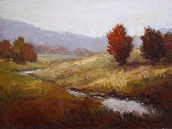 Autumn glory by Jane Hunt Oil ~ 6 x 8