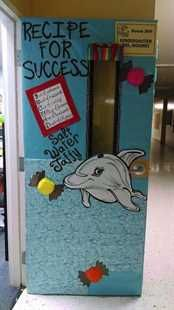 """Recipe For Success!"" Ocean Themed Door Display"