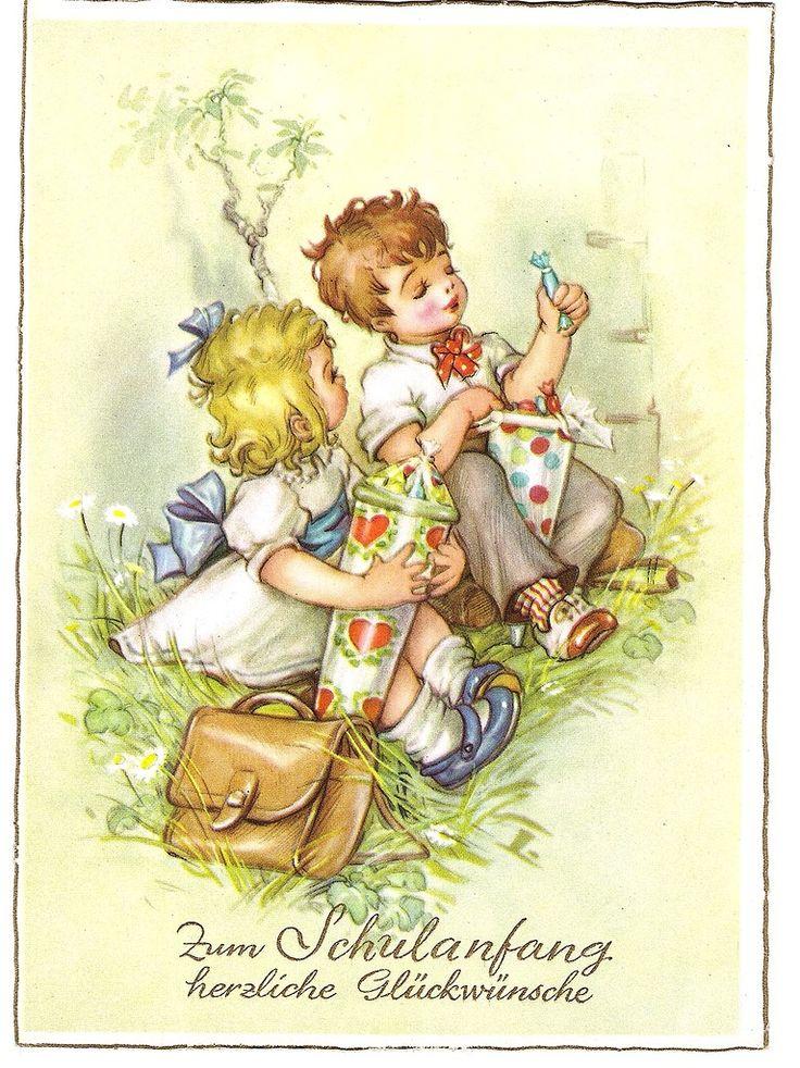 Немецкие открытки с переводом, февраля цветной бумаги