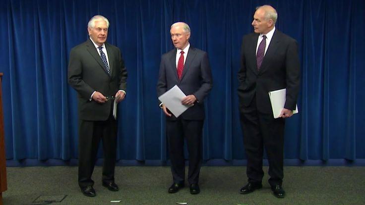 Tillerson & Co Make Statement On President Tramp's Executive Order