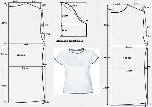 patrones de camiseta basica
