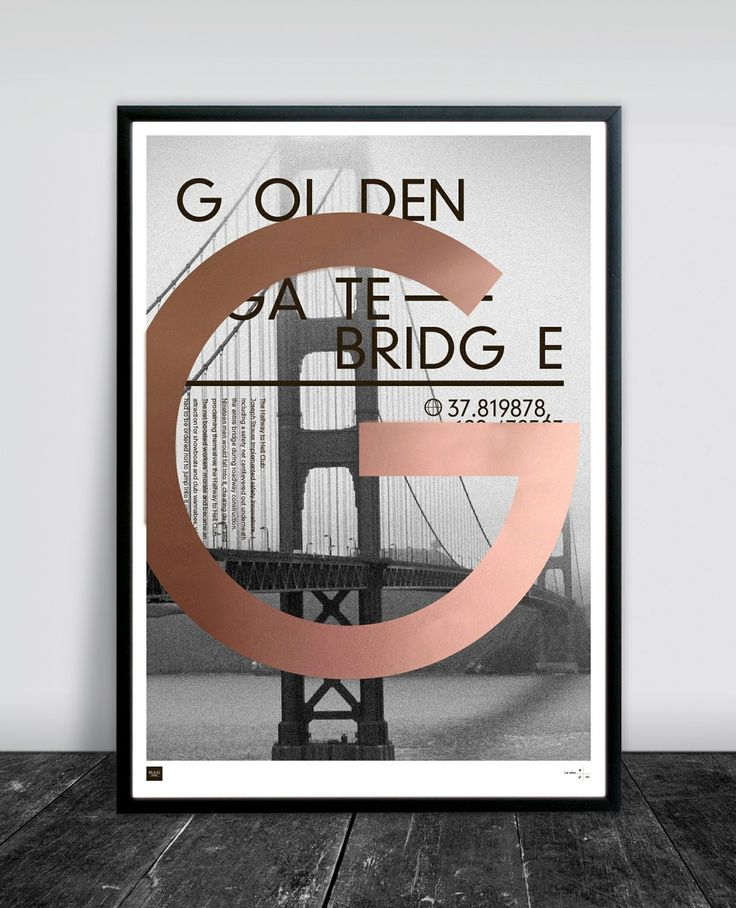 GOLDEN GATE 50 X 70 CM via Buus Works. Click on the image to see more!