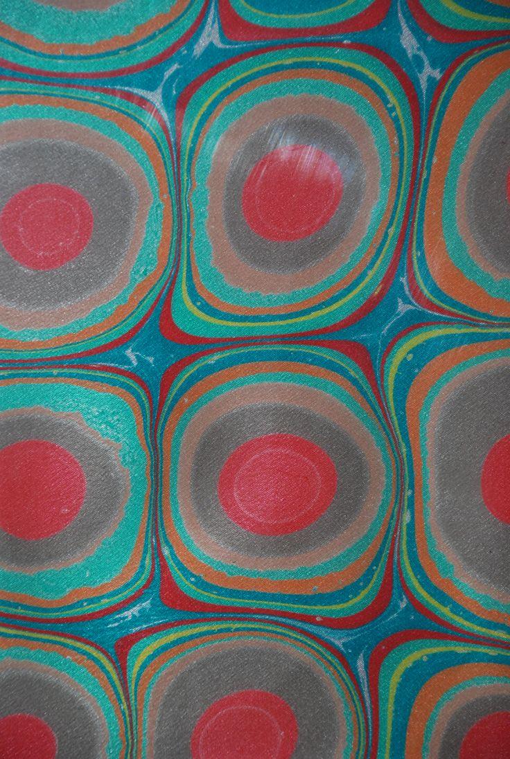 Ebru Marbling Art made by Aynur Sucu