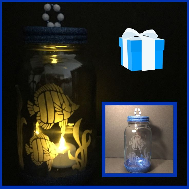 A personal favorite from my Etsy shop https://www.etsy.com/listing/480053606/tropical-fish-etched-glass-tea-light