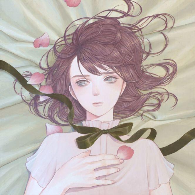 「gift」 紺野真弓 Mayumi Konno 2016 273x273mm キャンバスにアクリル Acrylic on Canvas