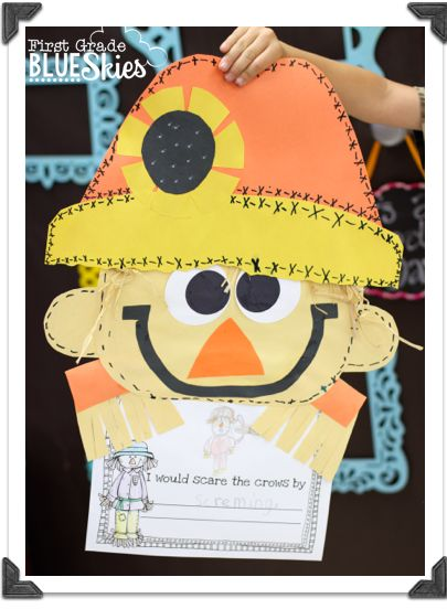 Adorable scarecrow craft! Are you familiar with the book, The Little Scarecrow Boy by Margaret Wise Brown? If you don't have it, you need to get it. It isn't a new book, it's a classic. It's one of those books that when you read it to your kids, they stop and listen.