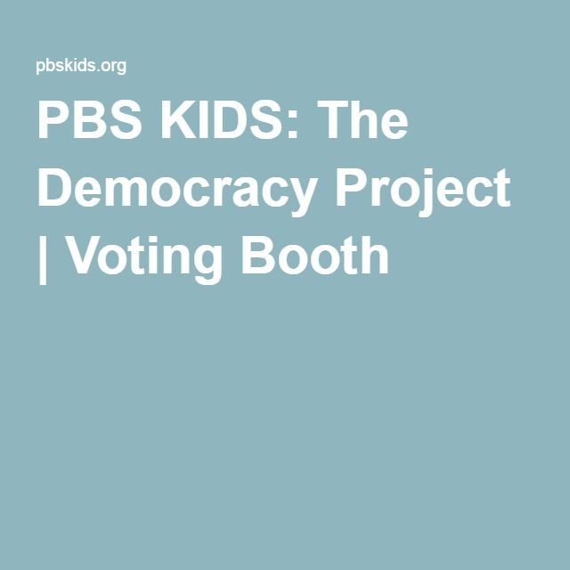 PBS KIDS: The Democracy Project | Voting Booth