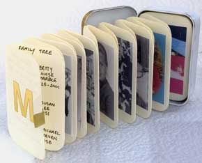 Altoid tin mini photo album
