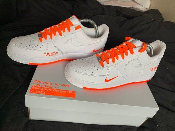 Air force ones, Nike air, Neon orange