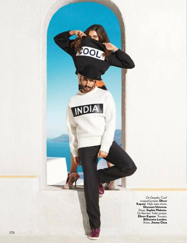 Ranveer and Deepika's Vogue photoshoot | Source: Twitter |