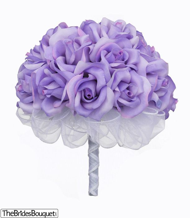 TheBridesBouquet.com - Lavender Silk Rose Hand Tie (2 Dozen Roses) - Bridal Wedding Bouquet, $29.99 (http://www.thebridesbouquet.com/lavender-silk-rose-hand-tie-2-dozen-roses-bridal-wedding-bouquet/). Ino's wedding bouquet.