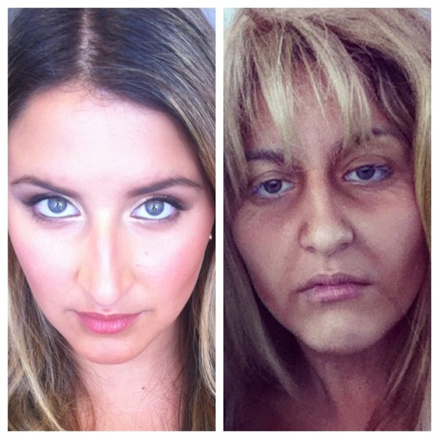 Aging makeup by me :-) she looks old right??