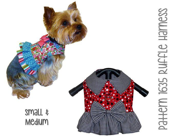 Step In Dog Harness Sewing Pattern 1631 Small Dog Harness Pet