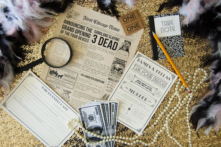 I hosted my very first Murder Mystery Party! 1920s Speakeasy | Murder at The Four Deuces | DIY | Costume Party | Cocktails | Flapper | Gatsby