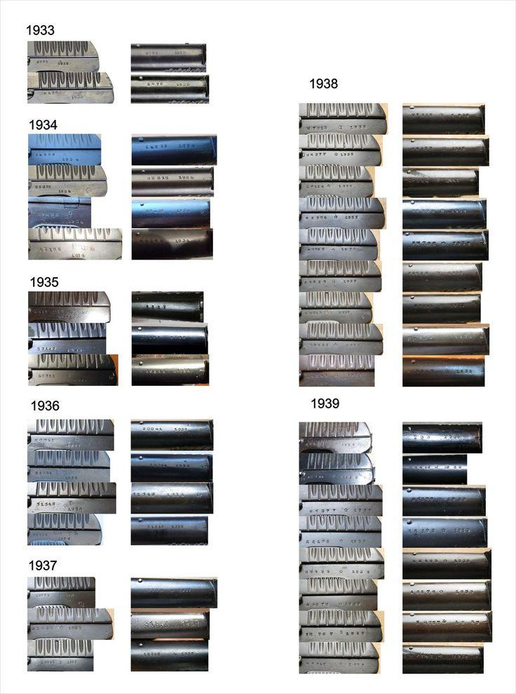 Маркировка пистолетов ТТ в зависимости от годов выпуска (кликните по изображению, чтобы увидеть фото полного размера)